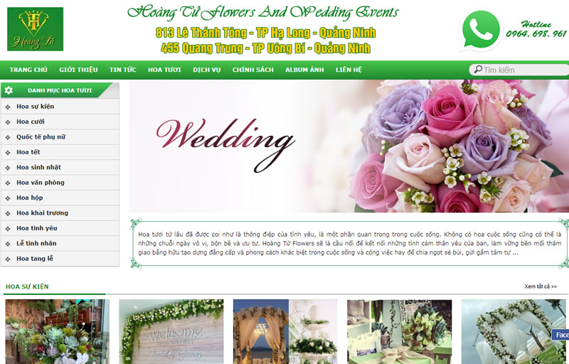 Hoang Tu Flowers And Wedding Events
