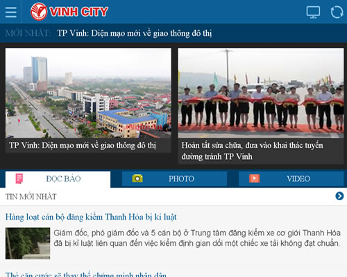 Website giao diện Mobile